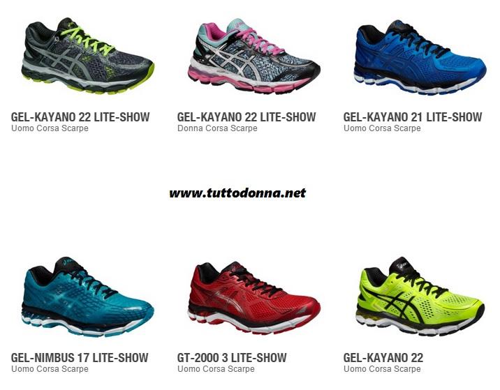 asics scarpe per correre